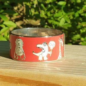 Marc by Marc Jacobs Enamel Zoo Bangle Bracelet